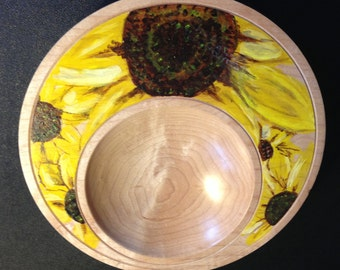 Off-Center Painted Bowl