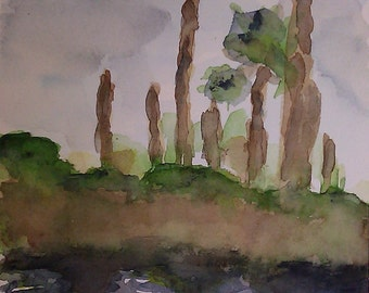 Dutton Island Preserve 4 Waterecolor Painting