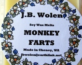 Soy Wax Candle Melts Clamshell 6-pack Scented With Monkey Farts Fragrance Oil