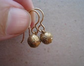 Organic Drop Bronze Earrings