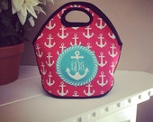 Monogrammed  Lunch Tote FREE SHIPPING
