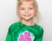 Kids SHORT Sleeved Custom Dyed Shamrock Shirt