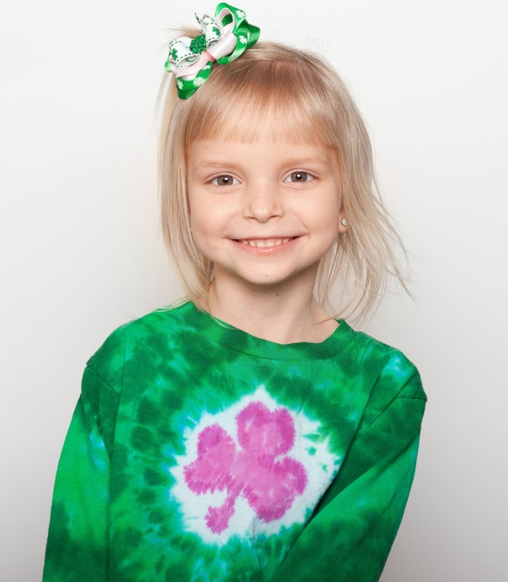 Kids SHORT Sleeved Custom Dyed Shamrock Shirt