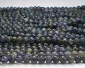 4.5mm Round Iolite Beads Purple Beads Full Strand