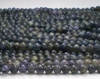 4.5mm Round Iolite Beads Purple Beads Full Strand