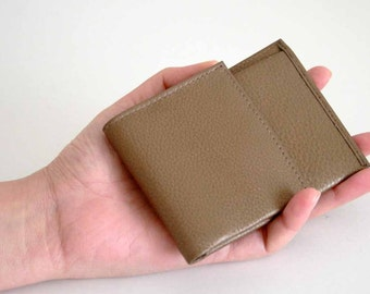 Genuine Leather Compact Thin Wallet, Vintage & Rare, UNISEX!