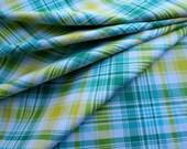 HALF YARD Freespirit Notting Hill Tartan Aquamarine by Joel Dewberry Cotton Quilting Fabric PWJD067.AQUAM