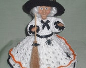 Wicked Witch with Pets Renuzit Air Freshener Cover, Crochet, Handmade