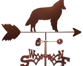 Hand Made Belgian Sheepdog Dog Weathervane New