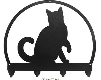 Cat Metal Key Chain Holder Hanger