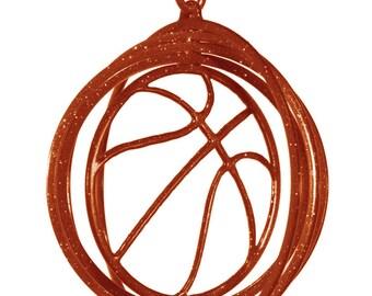 Basketball Tini Swirly Metal Wind Spinner