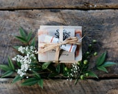 Eco Friendly Holiday Gift Set - Soap, Lip Balm, and Cedar Soap Dish