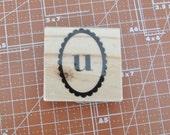 Lower Case U Rubber Stamp