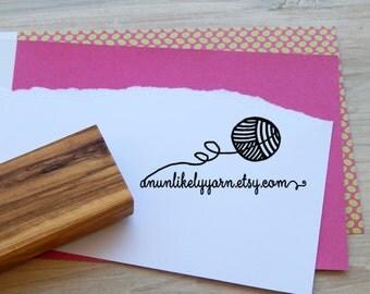 Yarn Ball Custom Olive Wood Stamp