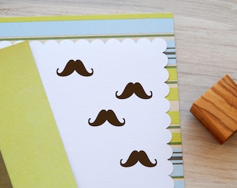 Little Mustache Olive Wood Stamp