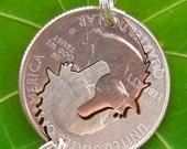 Horses  Interlocking Quarter Set Hand Cut Coin Jewelry