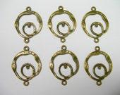 Antique Bronze Circular loops - links - chandelier findings - 6