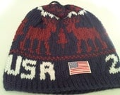 4 Olympic  Inspired  Beanies  either 2010 or 2014( made to order)