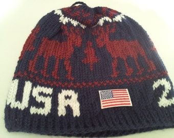 2014 Winter Olympic  Inspired  Beanie (Made to Order)