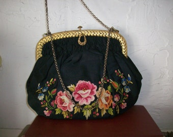 Embroidered Beau Vais French purse is stunning
