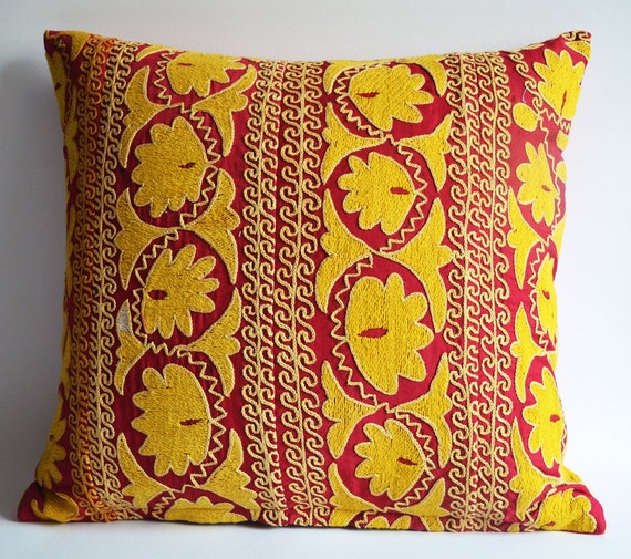 on sale suzani throw pillow decorative suzani pillows by sukan With decorative sofa pillows on sale