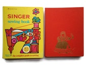 Singer Sewing Book and Erica Wilson's Embroidery Book - Set of 2 Vintage Craft Books