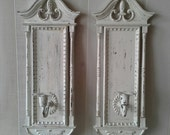 Wall sconces, candle sconces, metal sconces, cottage chic, shabby and chic home decor