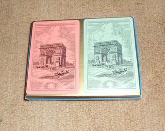 Vintage U.S. Hamilton Playing Card Set-Image of a Famous Arch-Complete