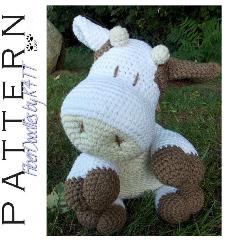 Tutorial Vaca Amigurumi Cow : INSTANT DOWNLOAD : Pillow Pal Cow Crochet Pattern