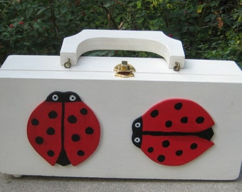 Summer Fun With This Great Wood Lucky Lady Bug  Purse  Mad men