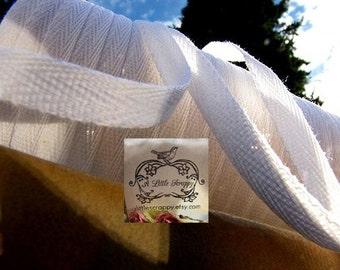 Cotton Twill Ribbon White