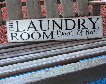 Wood Laundry Room Sign