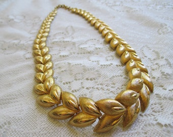 Vintage Monet goldtone statement necklace