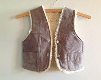 SALE NOW 39 USD Little Man Vintage Suede Vest