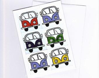 Campervan Greeting Card, Birthday Card, Blank Card, Combi Card, VW Card