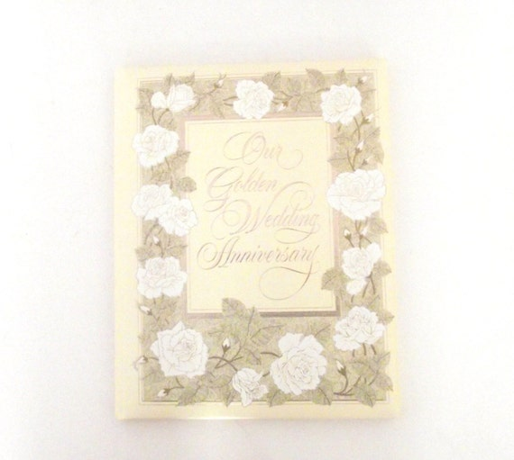 Our Golden Wedding Anniversary Vintage Hallmark Cards Blank