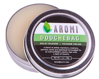 Douchebag Solid Cologne.  Man Gift.  Funny Men's Gift.  Manly Cologne.  Funny Gift.  Solid Fragrance.  Unique Men's Gift.