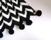Black and White Missoni Inspired Baby Blanket - Custom Made for You