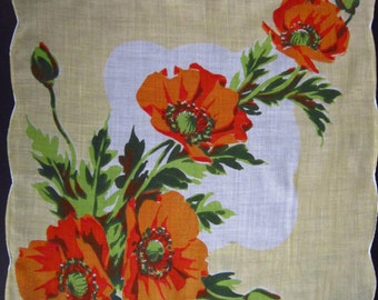 Vintage Handkerchief Yellow/Orange (vh56)