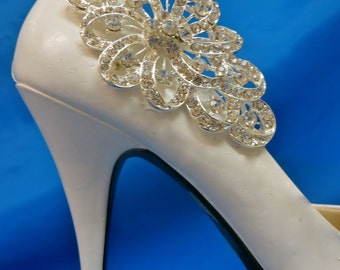 Bridal Shoe Clips,  Rhinestone Shoe Clips, Stunning Shoe Clips, Wedding Shoe Clips, Bride Shoe Accessory