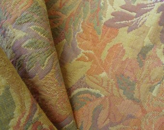 """54"""" Wide Vintage Victorian Style Cotton Blend Upholstery Fabric for Chair Cushions Ottomans Benches Settee Floral Fabric Tropical Print ST"""