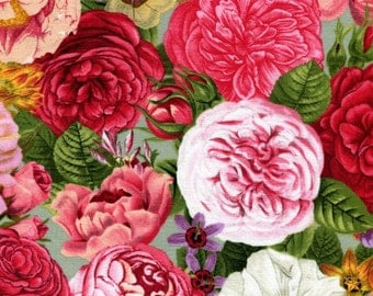 Spring in Paris Rose Azure Garden - Elizabeth Studios - 1 yard - More Available - BTY