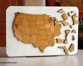 USA Map Puzzle - Alder