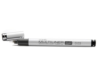 Copic Multiliner SP Individual Black Pen with .03 mm Nib -  0.03 Refills  & Replacement Nibs available 0.03mm