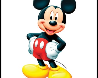 Edible Image - Mickey Mouse Cake, Cookie, Cupcake Topper