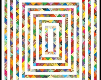 """VAMOOSE - 82"""" x 70"""" - Quilt-Addicts Pre-cut Patchwork Quilt Kit or Finished Quilt King Single size"""