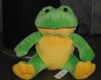 "New FROG ~ Super soft  & Cuddly ~ approx. 8"" Tall ~ With Squeaker ~"