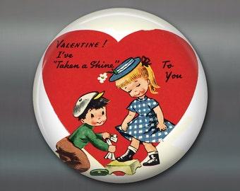 """3.5"""" vintage valentine magnet valentine fridge magnet kitchen decor large magnet school valentine card MA-1353"""