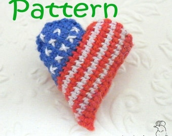 Crocheted American Heart – pattern/tutorial for crocheted amigurumi