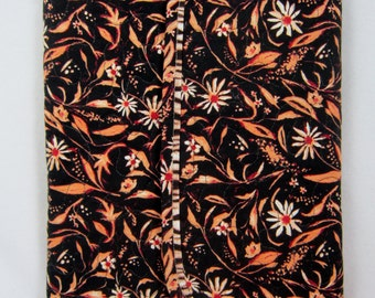 Notebook Cover and Pen Set Black Floral